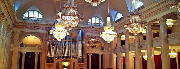 Grand Hall of St Petersburg Philharmonia is one of St. Pete.
