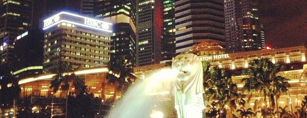 The Merlion is one of Singapore Sights.