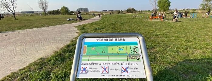 荒川戸田橋緑地 草地広場 is one of Lieux qui ont plu à Tomato.