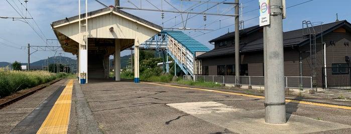 Uzen-Ōyama Station is one of JR 미나미토호쿠지방역 (JR 南東北地方の駅).