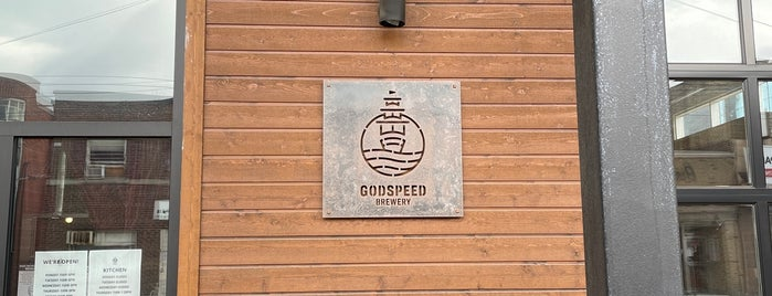 Godspeed Brewery is one of Our Glorious East End.