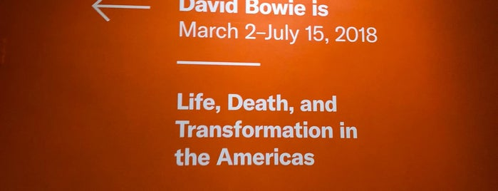 David Bowie Is is one of Tempat yang Disukai Erik.