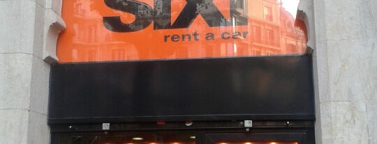 Sixt rent a car is one of Barcelona.