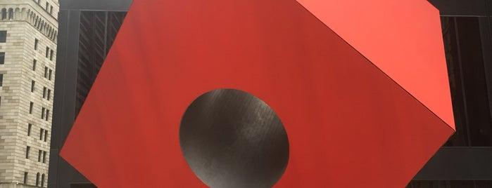 Red Cube by Isamu Noguchi is one of Sofia'nın Beğendiği Mekanlar.