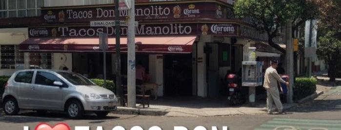 Tacos Don Manolito La Roma is one of A ver si es cierto.