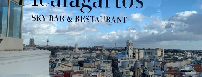 Picalagartos Sky Bar is one of Musts in Madrid.