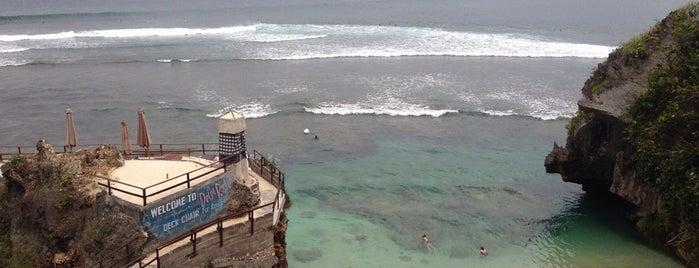 Uluwatu Surfing Beach is one of Bali's Best.