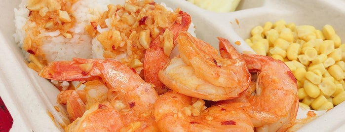 Fumi's Kahuku Shrimp is one of Hawaii.