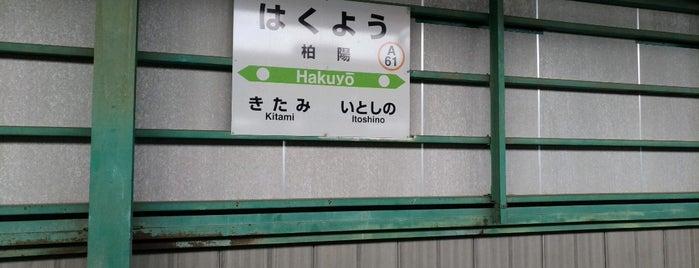 柏陽駅 is one of JR 홋카이도역 (JR 北海道地方の駅).