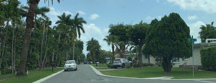Palm Island is one of Miami FL (Dexter).