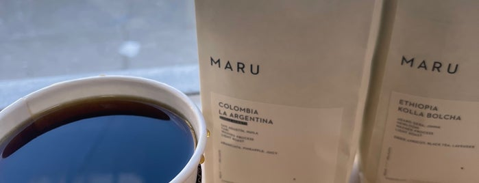 Maru Coffee is one of Coffee Spots To Hit.