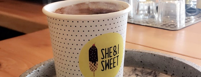 SHE & I SWEET is one of Coffee shops ( need to try).
