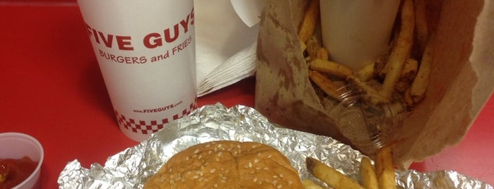 Five Guys is one of The Best Burgers in NYC.