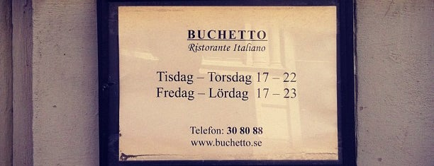 Buchetto is one of 🚫 Permanently Closed.