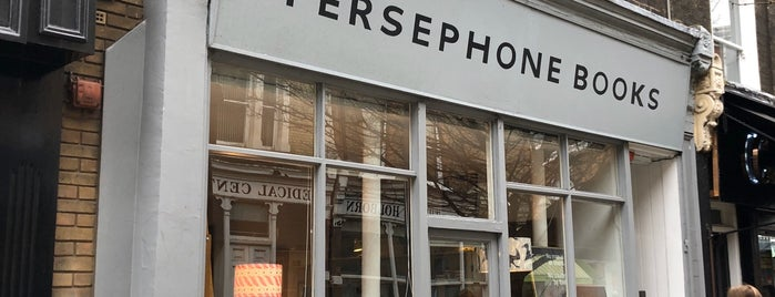 Persephone Books is one of London Favourites.