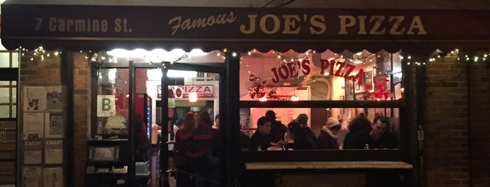 Joe's Pizza is one of The New Yorkers: Village Life.
