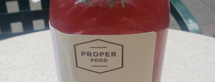 Proper Food is one of NYC.