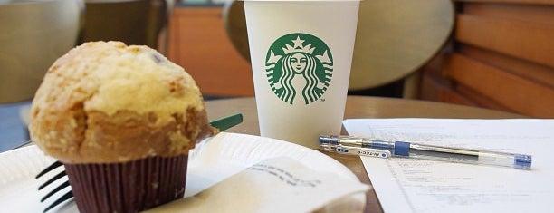 Starbucks is one of Orte, die Kevin gefallen.