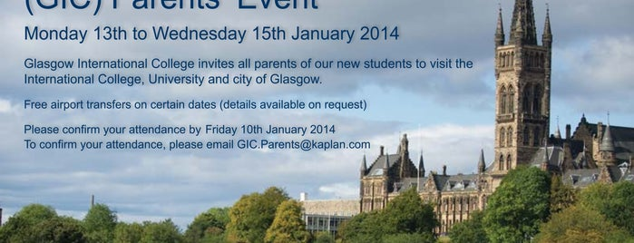 Glasgow International College is one of Lieux qui ont plu à Carl.