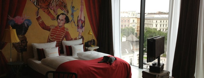 25hours Hotel Wien beim MuseumsQuartier is one of Design Hotels.