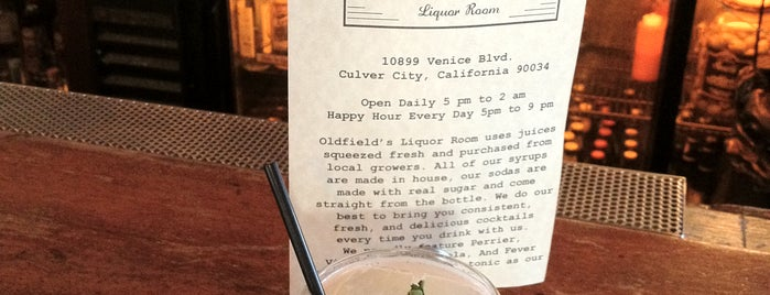 Oldfield's Liquor Room is one of Los Angeles Cocktails.