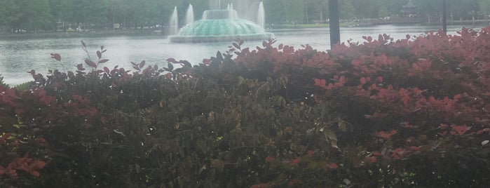 The Linton E. Allen Memorial Fountain At Lake Eola Park is one of Things To Do.
