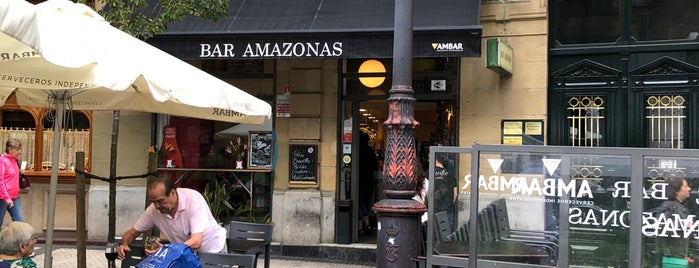 Bar Amazonas is one of San Sebastian.