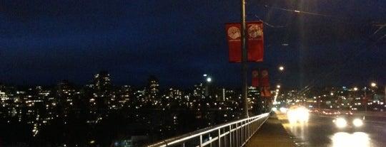 Granville Street Bridge is one of Vancouver.