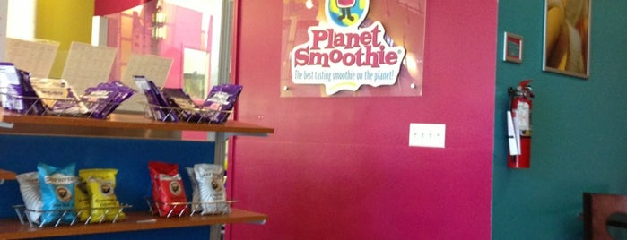 Planet Smoothie is one of สถานที่ที่ Sara Grace ถูกใจ.
