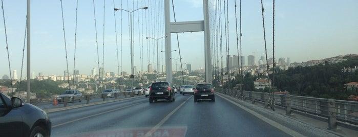 Boğaziçi Köprüsü is one of İstanbul.