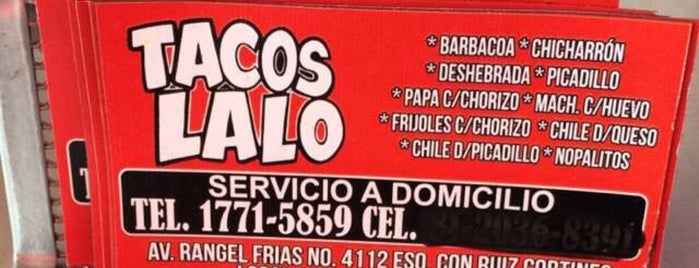Tacos Lalo is one of Monterrey.