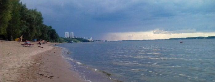 Пляж в Загородном парке is one of Orte, die Виталий gefallen.