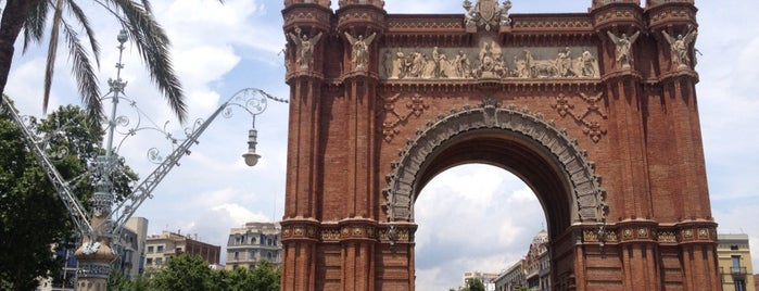 Arco del Triunfo is one of Barca.