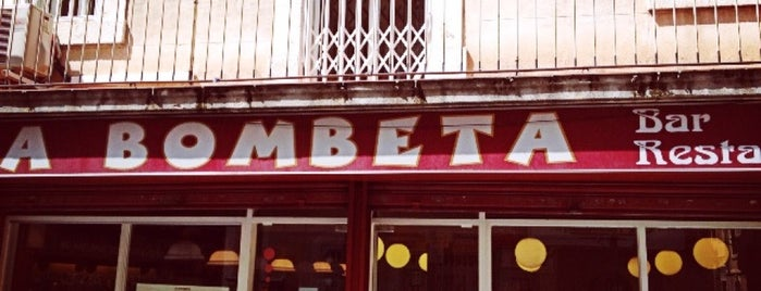 La Bombeta is one of Per picar a bcn.