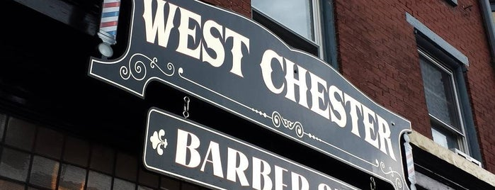 The West Chester Barbershop is one of สถานที่ที่ Mike ถูกใจ.