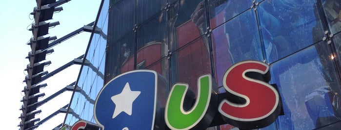 "Toys""R""Us is one of No sleep til Brooklyn."