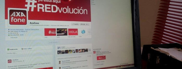 Axafone, Distribuidor Acreditado Vodafone de Empresas is one of Malaga Specials.