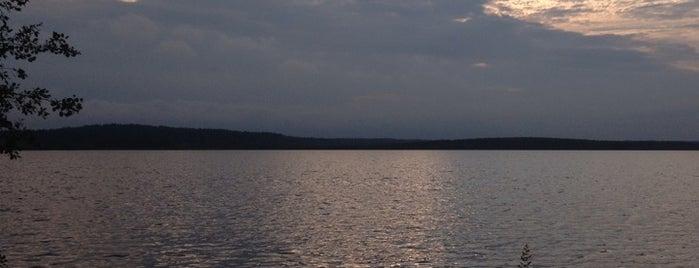Кавголовское озеро is one of Tempat yang Disukai Яна.