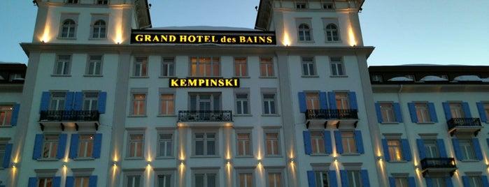 Kempinski Grand Hotel des Bains is one of Posti che sono piaciuti a Elaine.