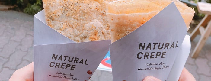 natural crepe is one of Locais curtidos por Vasco.