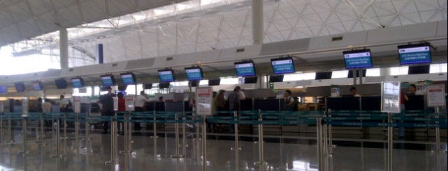 Cathay Pacific Check-in Counter is one of Airports.