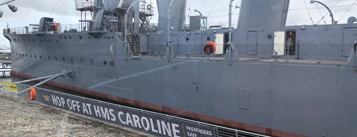 HMS Caroline is one of Northen Ireland.