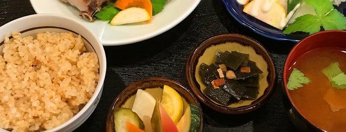 玄米ごはんとお酒 ごしま is one of Posti che sono piaciuti a soranyan.
