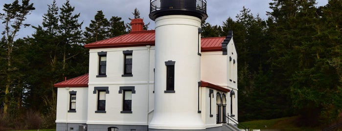 Fort Casey Light House is one of Whidbey Island, Washington.