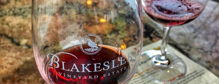 Blakeslee Vineyard Estate is one of Wine!!!.