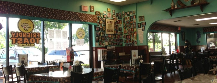 Friendly Toast Cafe is one of Kissimmee & Melbourne, FL.