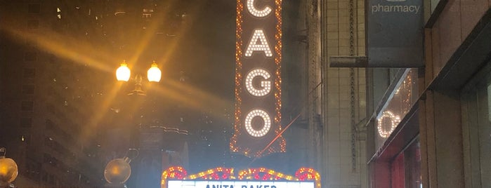 The Chicago Theatre is one of Andre'nin Beğendiği Mekanlar.