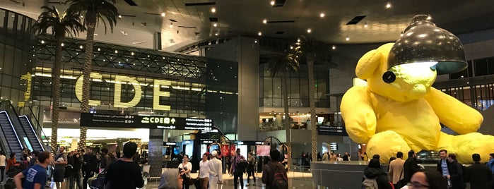 Hamad International Airport (DOH) is one of Posti che sono piaciuti a Olga.