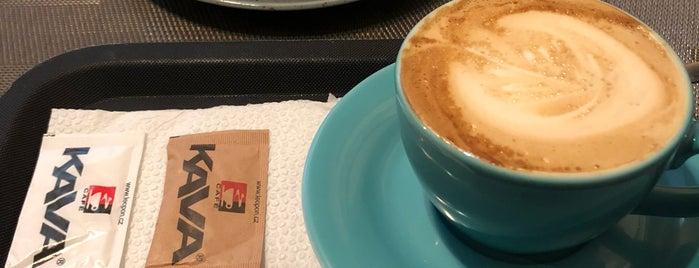 Café KAVA is one of Kde si pochutnáte na kávě doubleshot?.