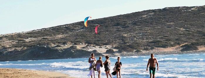 Prassonissi Beach is one of Lugares favoritos de Anastasia.